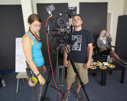 On the set of Typecast