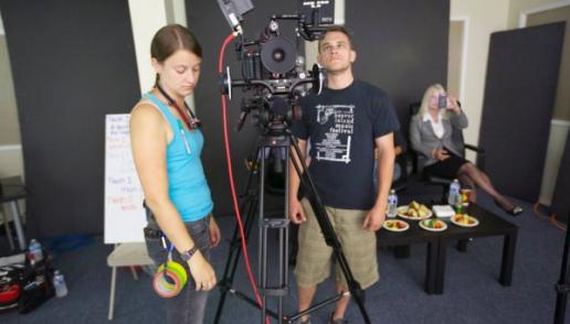 On the set of Typecast